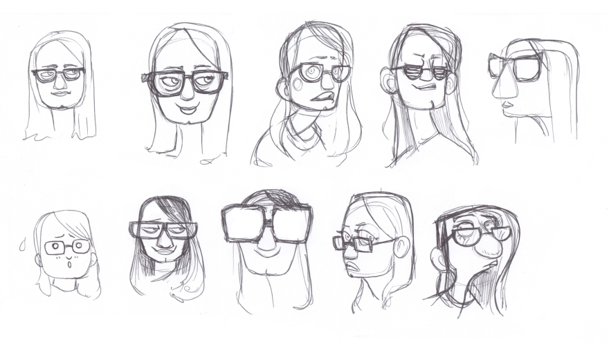 Glasses girl