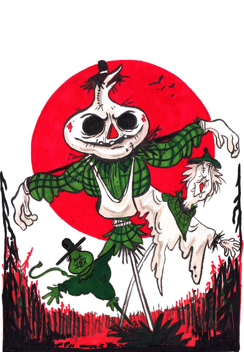 14-scarecrow-row